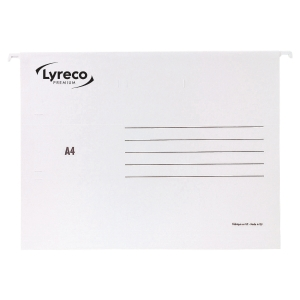 HENGEMAPPE LYRECO PREMIUM A4 HVIT ESKE25