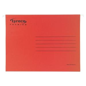 Pack de 25 Pastas de suspensão lyreco premium folio vermelho