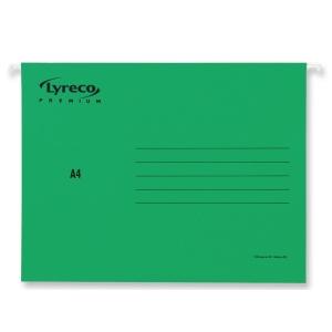 Lyreco Premium hangmappen voor laden folio V-bodem groen - doos van 25