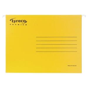 Pack de 25 Pastas de suspensão lyreco premium folio amarelo