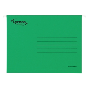 LYRECO PREMIUM GREEN FOOLSCAP SUSPENSION FILES V BASE - BOX OF 50
