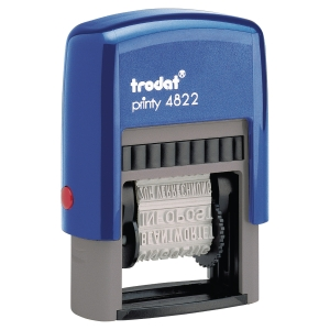 Tampon multi-formules Trodat printy 4822 encrage auto 4 mm