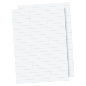 LYRECO PREMIUM WHITE SUSPENSION FILE TAB INSERTS - PACK OF 100
