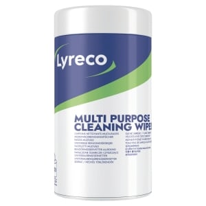 Lyreco Multi-Purpose Wipes 100-Wipes