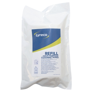 LYRECO MULTIPURPOSE WIPES (REFILL) PACK OF 100