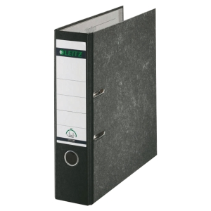 LEITZ 180 PAPER ON BOARD BLACK A4 LEVER ARCH FILE