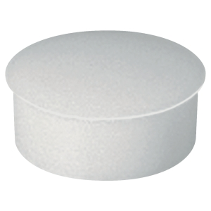 Lyreco round magnets 22mm white- box of 10