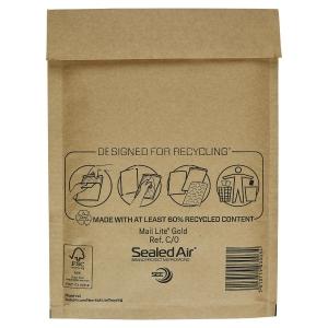 Luftpolstertaschen Mail Lite C/0, Innenmaße: 150x210mm, braun, 100 Stück