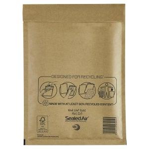 Luftpolstertaschen Mail Lite D/1, Innenmaße: 180 x 260 mm, braun, 100 Stück