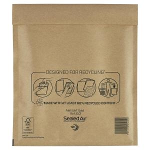 Luftpolstertaschen Mail Lite E/2, Innenmaße: 220 x 260 mm, braun, 100 Stück