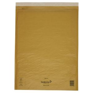 CONF. DA 50 BUSTE A SACCO IMBOTTITE MAIL LITE GOLD 35 X 47 CM COL. AVANA