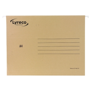 Lyreco Premium suspension files for drawers A4 V chamois - box of 25