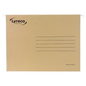 Pack de 25 carpetas colgantes visión superior  folio  Kraft  LYRECO Premium