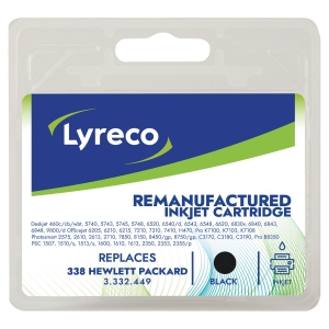 Lyreco Inkjet Cartridge Compatible Hewlett Packard 338 C8765 Black
