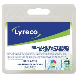 Lyreco compatibele HP 334 (C9363EE) inkt cartridge, cyaan, magenta, geel