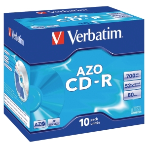 CD-R 700 MB 80 MIN VERBATIM - CONF.JEWEL CASE DA 10
