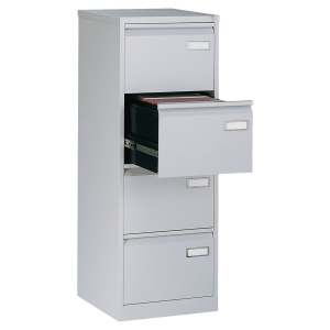 Bisley Economy filing cabinet for suspension files 4 drawers H132cm grey