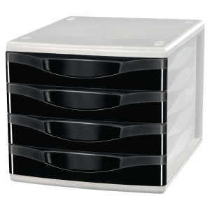Lyreco 4 Drawers Unit Black