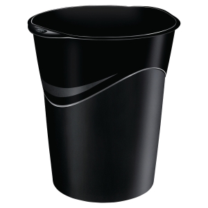 Papelera polipropileno color negro LYRECO