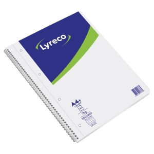 CAHIER SPIRALE INTEGRALE LYRECO A4+ 160 PAGES MICROPERFOREES QUADRILLEES 5X5