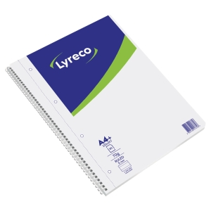 LYRECO NOTEBOOK A4 80 SHEETS 70 GSM RULED DOUBLE WIRE - PACK OF 5