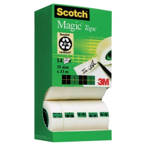 Scotch 810 Magic Tape Value Pack - 12 + 2 Rolls