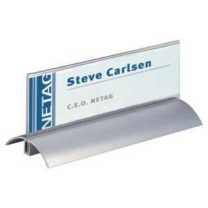 DURABLE 820219 NAME HOLDERS ALUMINIUM 210 X 61 MM - PACK OF 2