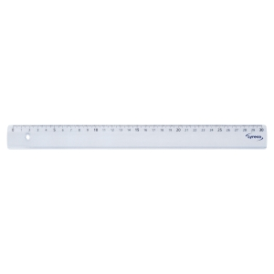 REGLE SIMPLE LYRECO 30 CM EN PLASTIQUE TRANSPARENT BORD ANTITACHES