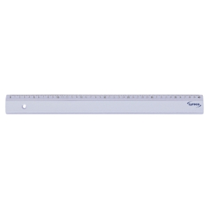 REGLE SIMPLE LYRECO 40 CM EN PLASTIQUE TRANSPARENT BORD ANTITACHES