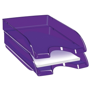 CORBEILLE A COURRIER HAPPY BY CEP POLYSTYRENE ANTICHOC ROBUSTE ET RIGIDE VIOLET