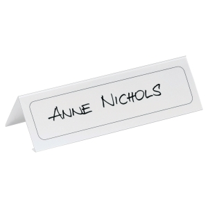 Durable Table Place Name Holder 210X61mm - Pack of 10