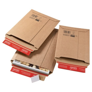 Colompac CP010.01 rigid corrugated cardboard envelope 150 x 250 x 50 mm