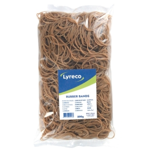 Lyreco rubber bands 90x1,5mm - bag of 500 gram
