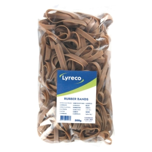 Lyreco rubber bands 125x8mm - box of 500 gram
