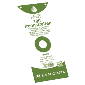 Exacompta rectangle dividers cardboard 190g green - pack of 100
