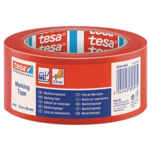 Tesa 60760 Floor Tape 50mmx33M Red