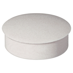 Lyreco round magnets 27mm white - box of 6