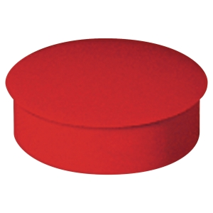Lyreco round magnets 27mm red - box of 6