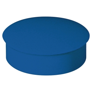 Lyreco round magnets 27mm blue - box of 6