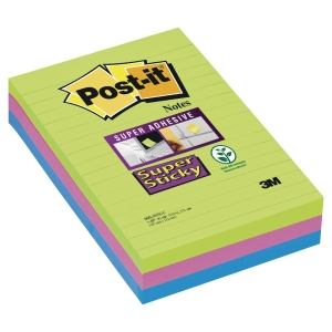 Karteczki Post-it Super Sticky XXL, Marrakesz, w linię, 101x152mm, 3x90k