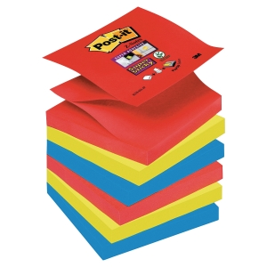 Pack 6 Blocos notas adesivas post-it Super Sticky Z-Notes Bora Bora 76x76mm