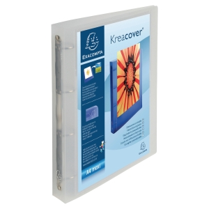 Exacompta KreaCover Präsentationsringbuch 4-Ringe Ø30 mm, transparent