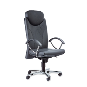 INTERSTUHL H212 FIRE RETARDANT SYNCHRON MANAGEMENT LEATHER CHAIR