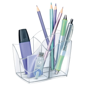 Cep Isis Pencil Cup 4 Compartments Crystal