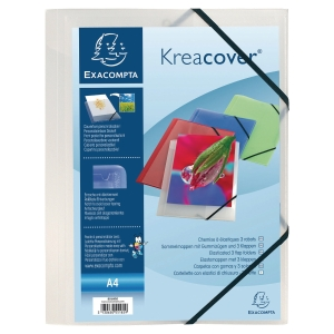Kreacover 55188E personalised presentation folder A4 PP transparent