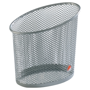 ALBA MESH PEN HOLDER SILVER