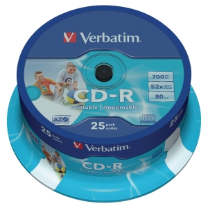 Pack de 25 CD-R Verbatim - 700 Mb