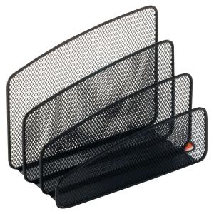Trieur à courrier 3 compartiments Alba mesh métal noir