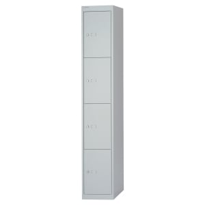 STEEL LOCKER 4 COMPARTMENTS GREY