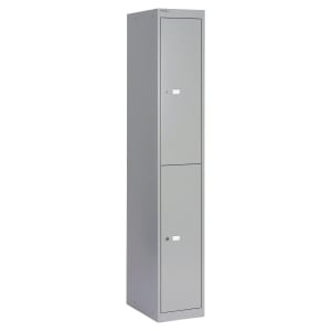 Bisley locker with 2 compartments 30,5x180,2x45,7 cm grey